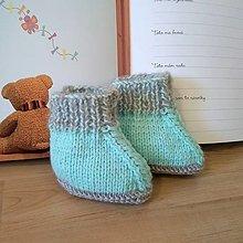 Topánočky - Na malé nožičky Mint - 12824802_