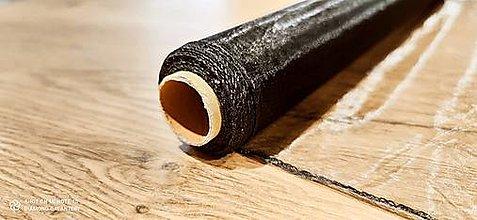 Galantéria - Obšitá organza 36 cm (Čierna) - 12827376_