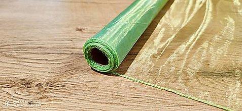 Galantéria - Obšitá organza 36 cm (Zelená) - 12827380_