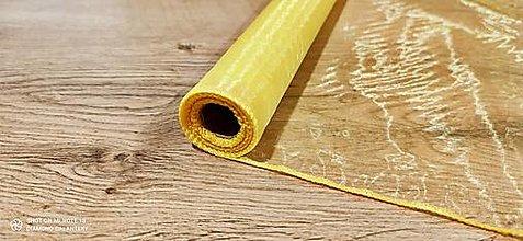 Galantéria - Obšitá organza 36 cm (Žltá) - 12827382_