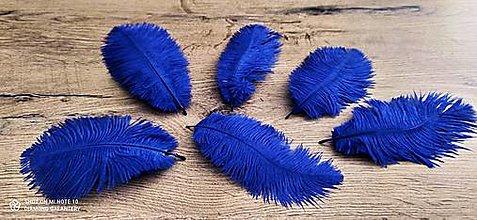 Galantéria - Pierko ozdobné Marabou - 15-20 cm - Čierne (Modrá) - 12827429_