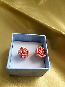 Náušnice - ružičky /keramika/ - 12825256_