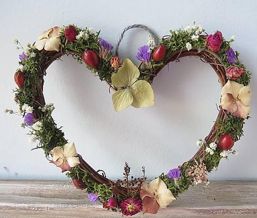 """Dekorácie - Kvetinové srdce """"Maya"""" - 12825345_"""