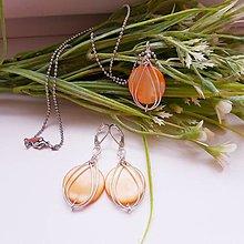 Sady šperkov - Drôtikovaný set - Scarlett - 12827002_