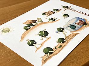 Grafika - Pôžitkárske riasoguľky - Print | Botanická ilustrácia - 12826421_