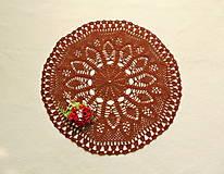 Úžitkový textil - Háčkovaná dečka Hnedá - 12825189_
