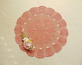 Úžitkový textil - Háčkovaná dečka Staroružová - 12825226_