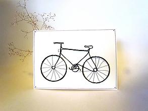 Iné - Veľká pohľadnica- bicykel 20cm - 12824720_