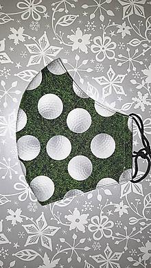 Rúška - Pánske rúško Golf s antibakteriálnou bavlnou - 12827618_