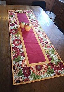 Úžitkový textil - Obrus kvety - 12829595_