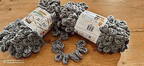 Galantéria - Alize Puffy  (535 sivo čierna) - 12830303_