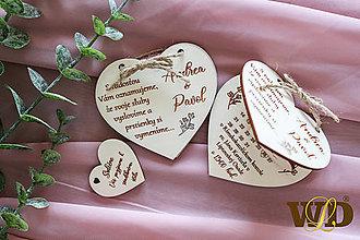 Papiernictvo - Drevené svadobné oznámenie - 12828589_