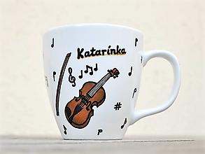 Nádoby - Hrnček pre hudobníka/učiteľa hudby (husličky) - 12830908_