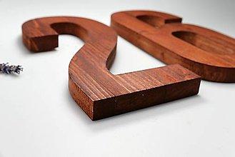 Tabuľky - Popisné číslo: Klasik z dreva (20 cm) - 12830848_