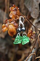 Náušnice - Akrylovky zelené