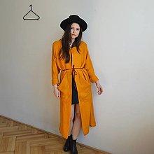 Kabáty - Dlhý oranžový kabát - 12829818_