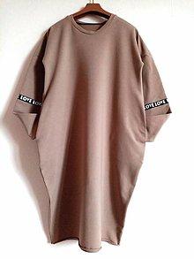 Šaty - Oversize saty Love - 12831137_