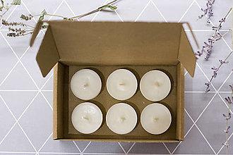 Svietidlá a sviečky - Čajové sójové sviečky 6KS zerowaste - 12828634_