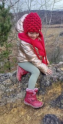 Detské čiapky - Červená čiapočka - Usianka - 12830972_
