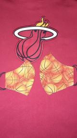 Rúška - Rúško Basketbal s antibakteriálnou bavlnou - 12835327_
