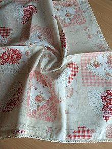 Úžitkový textil - Obrus červené srdce - 12833304_