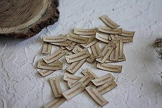 Drobnosti - Koženkové štítky 40x15mm - 12833288_