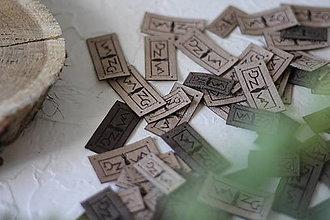 Drobnosti - Koženkové štítky 40x20mm - 12833652_