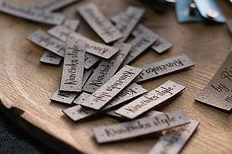 Drobnosti - Koženkové štítky 45x15mm - 12833729_
