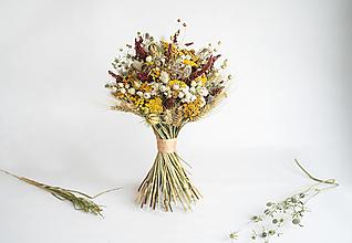 Dekorácie - Kytica zo sušených kvetov - 12832504_