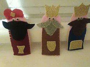 Hračky - Traja králi a hviezda-maňušky - 12831374_