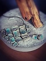 """Sady šperkov - náhrdelník a náušnice """"modrý betón"""" - 12832218_"""