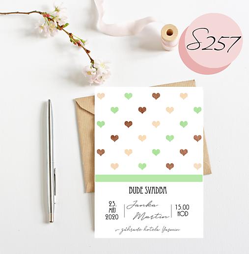 Svadobné oznámenie 257