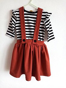 Detské oblečenie - Sukňa na traky-tehlova - 12833396_