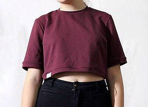 Tričká - Crop top BASIC - 12834352_