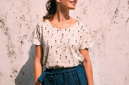 Tričká - Dámske tričko vyrobené zo 100% recyklovanej látky PLAVCI - 12832825_