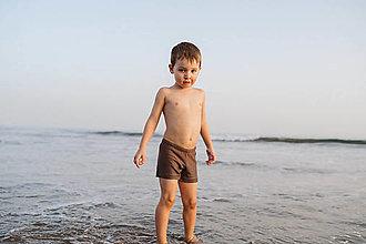 Detské oblečenie - Chlapčenské plavky hnedé - 12832456_