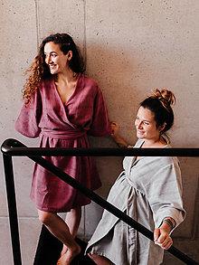 Pyžamy a župany - Dámske kimono BORE béžová - 12832627_