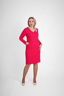 Šaty - Úpletové šaty s vreckami - 12834641_
