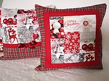 Úžitkový textil - Vianočné vankúše - 12836509_