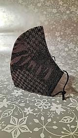 Rúška - Dámske rúško Kráľovná noci s antibakteriálnou bavlnou - 12839694_