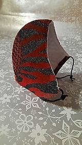 Rúška - Dámske rúško Kráľovná noci s antibakteriálnou bavlnou - 12839835_