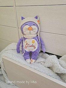 Hračky - Mačička v zimnej výbave - /35-45cm/ - 12839165_