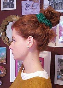 Ozdoby do vlasov - Háčkované gumičky do vlasov 3 ks - Scrunchies - 12837438_