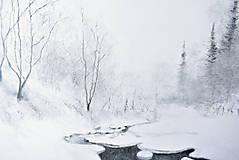 Kresby - Biela zima - 12839361_
