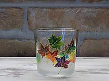 Svietidlá a sviečky - Svietnik na čajovú sviečku - Autumn Leaves - 12836286_