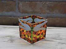Svietidlá a sviečky - Svietnik na čajovú sviečku - Dragonfly - 12836302_
