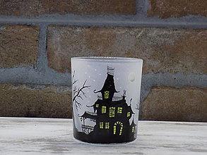 Svietidlá a sviečky - Svietnik na čajovú sviečku - Haunted House - 12836182_
