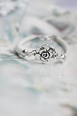 Náramky - Náramok - Biela ruža - 12837055_