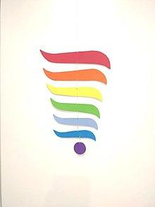 Detské doplnky - závesná montessori dúha,montessori závesná dekorácia pre bábätko dúha,montessori mobile - 12839646_