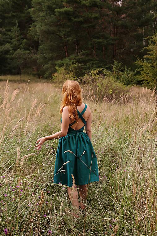 Šaty - ALISIA lněné šaty - 12838531_